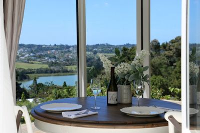 Wine and dine in luxury with amazing views.