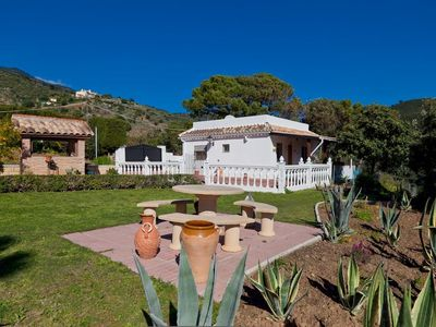 Photo for Tranquil detached house with private pool and WIFI, Country side, overlooking Estepona and sea view