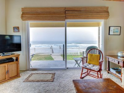 Photo for Family-friendly, oceanfront retreat w/ furnished patio and beach access