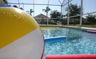 Fun in the pool, pool toys available. Close your eyes and feel the sun.