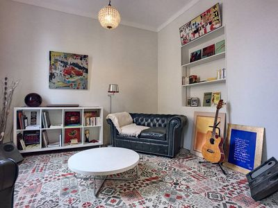 Photo for (001) Charming 2 bedroom in Old Town Antibes Aircon Balcony and Garden