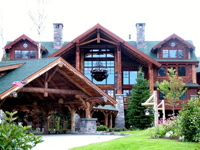 Front View of The Whiteface Lodge in the Summer