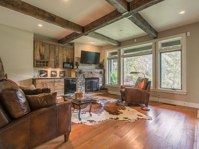 Photo for NEW LISTING! Spacious, waterfront townhome w/2 fireplaces, firepit & river view