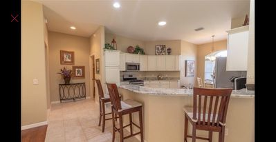 Breakfast bar for conversations while spending time with family