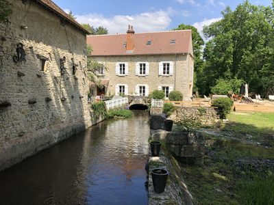 Photo for MILL 500M2,16 TO 30 PERS. 90 KM FROM PARIS. SWIMMING POOL, TENNIS, POND, RIVERS.