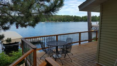 Photo for PONTOON INCLUDED - RELAXING FAMILY CABIN ON THE WATERS EDGE OF LAKE O'BRIEN