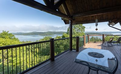 Photo for Panorama Point-5 bed/4 bath rustic cabin style home with 12 X 30 Boat Slip!