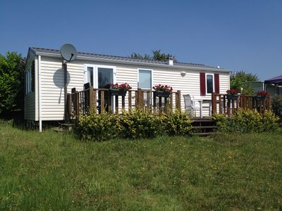 Photo for Rent mobile home in camping with swimming pool