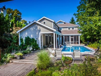 Photo for Awesome lakefront house, private pool, screened porch, beach, stunning views!