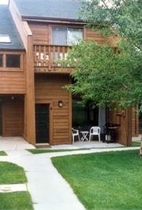 Both the patio & deck face the open courtyard. Deck has views of Mt. Baldy.