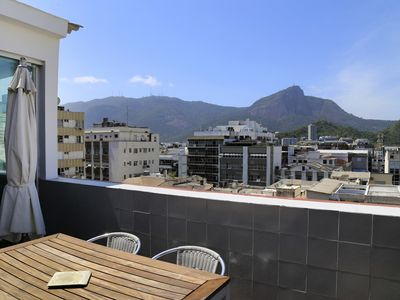 Photo for Rio015-Lovely modern penthouse with view on the Corcovado mountain in the heart of Ipanema