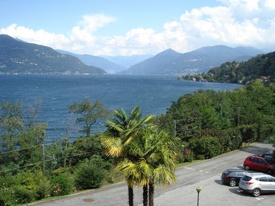 Photo for 2 1/2 room apartment with fantastic views right on Lake Maggiore