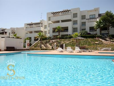 Photo for Las Colinas Encina residence with golf and pool view, large balcony, 4 p.
