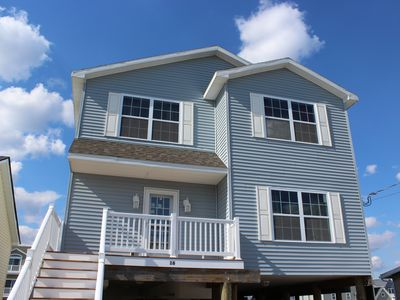 Photo for Waterfront 5 BR 2 1/2 Bath 2100 SF Home Near LBI Beaches-Floating Dock