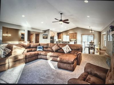 Upstairs living area. Newer home. Spacious and bright.
