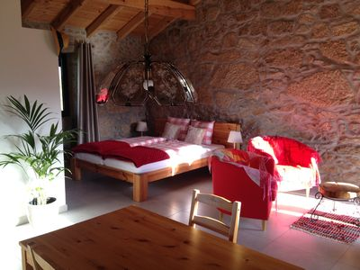 Photo for Holiday Studio in an old stone house with beautiful view on the Serra Estrela
