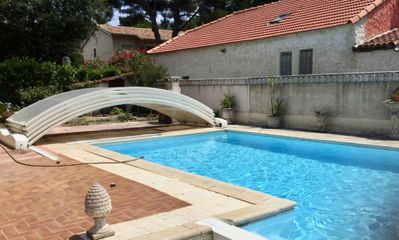 Photo for Seasonal rental Six Fours Les Plages swimming pool 6 people near beaches