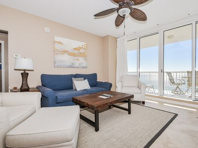 Photo for Crisp, coastal beachfront condo w/private balcony views!