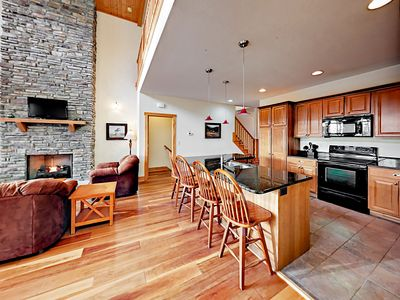 Kitchen - Bar seating in the kitchen allows everyone to stay part of the conversation.