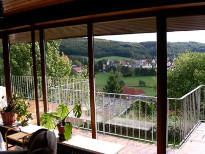 Photo for Haus Luise am Bostalsee, Apartment 1: Panoramic view and large balcony
