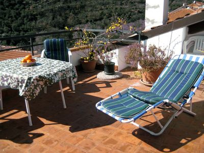 Photo for Charming stone house in Ligurian mountain village on the Italian Riviera.