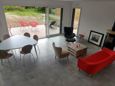 Photo for Beautiful new house at 2 steps from the beach of Pors Carn