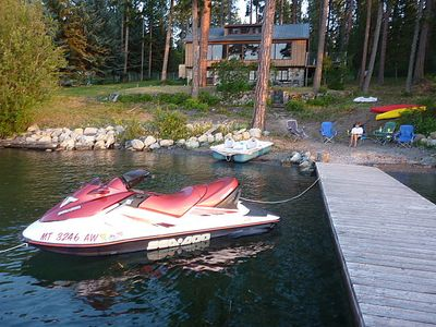 A place to play and park your watercraft.  The lake near the cabin is uncrowded.