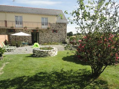 Photo for 7 km from Derval, in the countryside, stone house 5 people with internet.