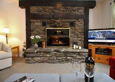 Beautiful fireplace to keep you warm even during the coldest days