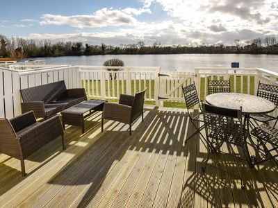 Photo for 3 Bedroom Lodge With Direct Lake View In South Cerney