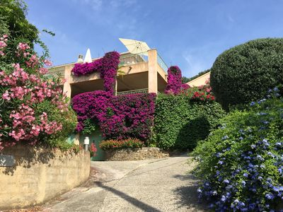 Photo for Villà Erbella,  2-bedroom apartment in beautiful villa with garden and seaview