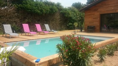 Photo for House sleeps 6 heated pool in Biscarrosse