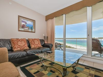 Photo for Beachfront Condo with Pool and Beach Views! Free Beach Chair Service