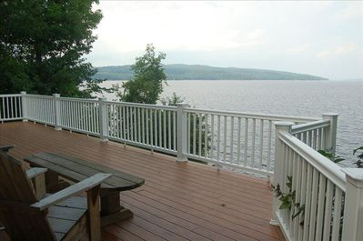The deck where you can sit and watch the lake forever...