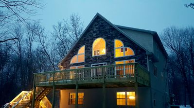 Photo for Brand NEW luxurious 7 Bed Room Pocono Home, walk to Lake and near to attraction!