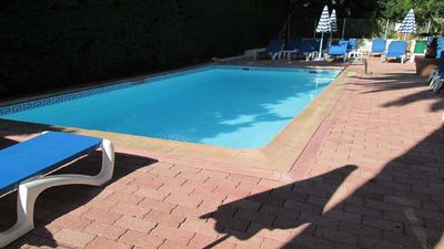 Photo for Apartment ground garden, sea 500m pool