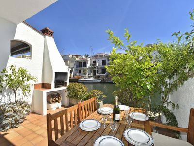 Photo for Fisherman's house 3 bedrooms in port with clime, WiFi, garage, mooring 4-5M