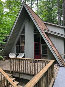 Photo for New Listing!  Updated A-frame ski chalet...Walk to Nubs Nob!