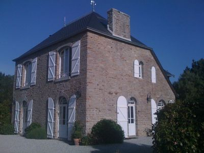 Photo for Authentic Brittany stone manor house completely restores seaside