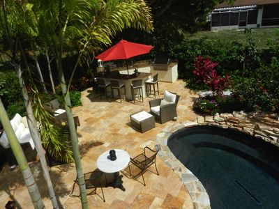 Photo for Great Location with private yard and heated pool! Close to beach and Mercato.