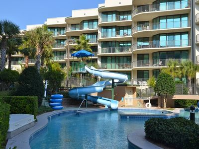 Photo for Top Floor Condo!! Lazy River/Water Slide!!