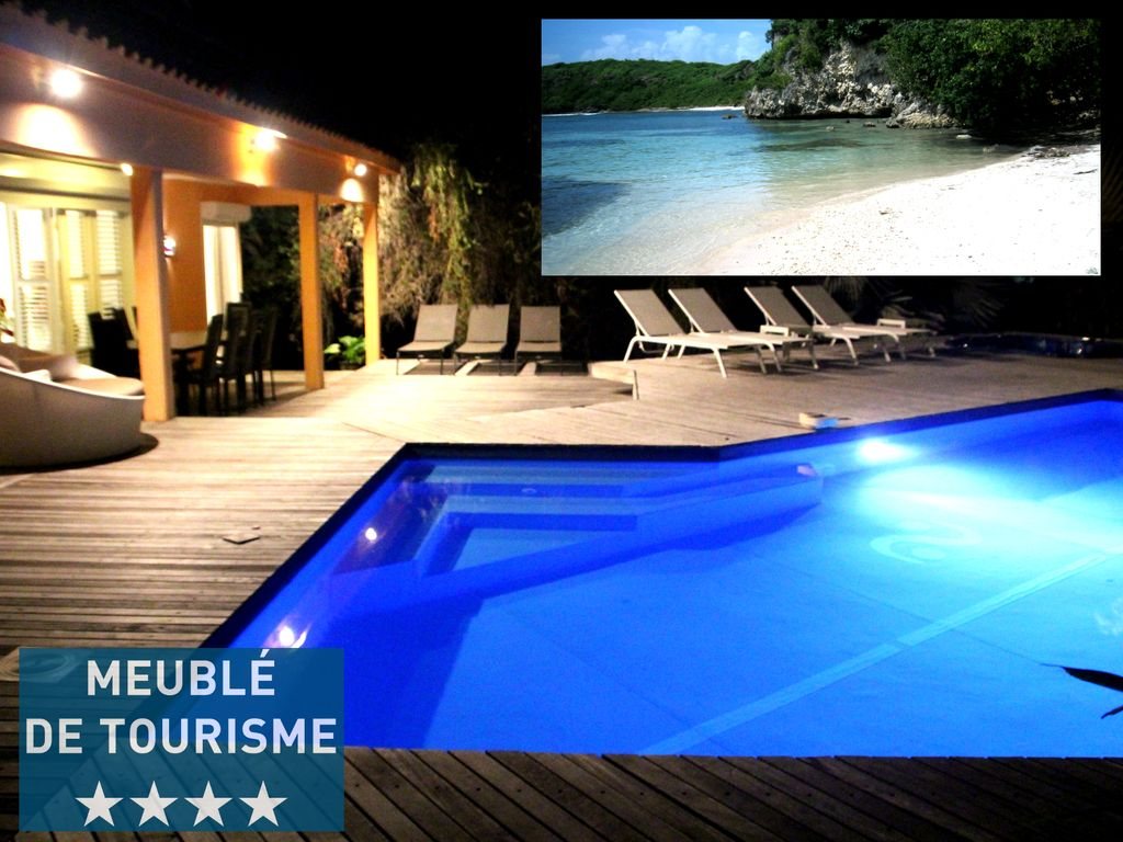karuhuapi villa in petit havre with pool and jacuzzi 601480. Black Bedroom Furniture Sets. Home Design Ideas