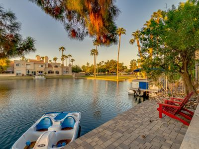Photo for Waterfront w/ Heated Pool and a Paddle Boat in Gilbert!