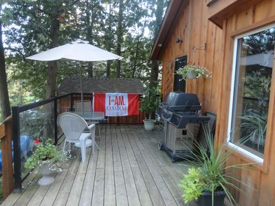 Deck and BBQ area