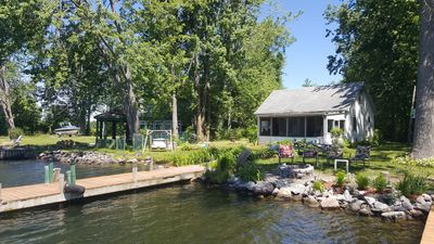 Photo for Waterfront cottage, two docks, great fishing, open to Oneida Lake, large yard