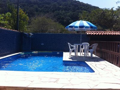 Photo for House 4 bedrooms 600 meters from the beach 14 people w / churr. pool