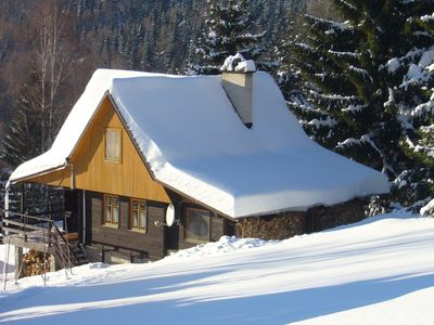 Photo for Mountain hut Oldrich B with sauna in a quiet location in the Sudeten Mountains
