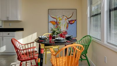 """Kitchen Table and """"Fred"""" on the wall. You never need to ask """"Where's the Beef?"""""""
