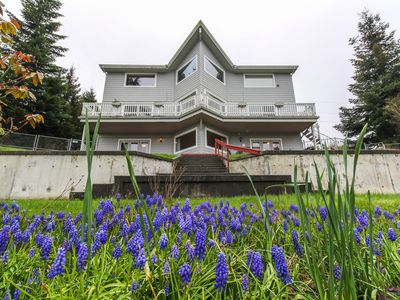 Photo for Bright getaway w/ waterviews, private hot tub, and location blocks to beach!
