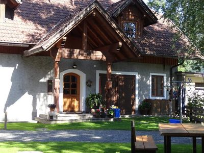 Photo for 2- 3 N apartment / 2 bedrooms / shower, toilet - wooden log cabins Schabus